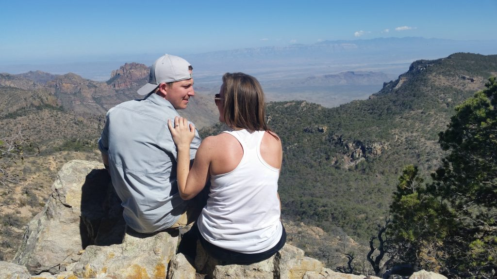 couple got engaged at the top of Emory Peak
